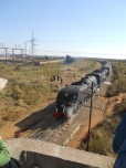 The steam train that I took on the Father's day tour from Bulawayo to Figtree, 2011