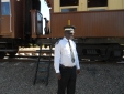 NRZ rep posing for me in front of a vintage carriage