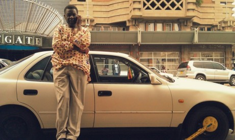 Afriwood founder Stephen Chigorimbo by Eastgate in downtown Harare