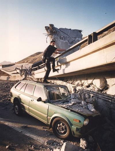 This 1994 Northbridge quake photo is courtesy of Dailynews.com