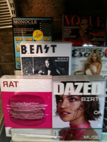 B.East Magazine lined up along Monocle on sale in London (Photo from B.East Magazine facebook page)