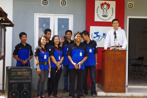 At opening celemony of Youth Center in Indonesia