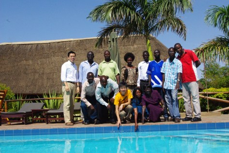 With local staff in Juba, South Sudan
