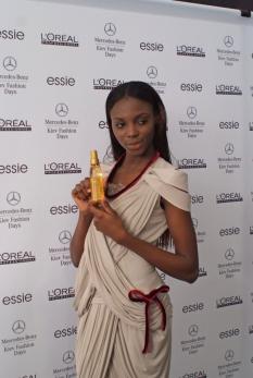 A model wearing Lera Leshchova-created dress (Photo by Nikolai Bazanov)