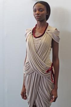 A model wearing Lera Leshchova-created dress #2 (Photo by Nikolai Bazanov)