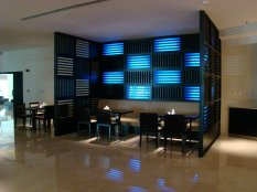 """From Hussam's Facebook: """"Holiday Inn Express Dubai Airport Hotel situated near the Emirates Metro station and close to the Dubai International Airport. I began designing this project in December 2007 with GCC Contracting, as a designer through my Company DGI Interior. In April 2008 I got down to coordination with Mr. Ayman Hujaij of execution contractor Top Line Furniture Industry. The project handover took place in June 2009."""""""