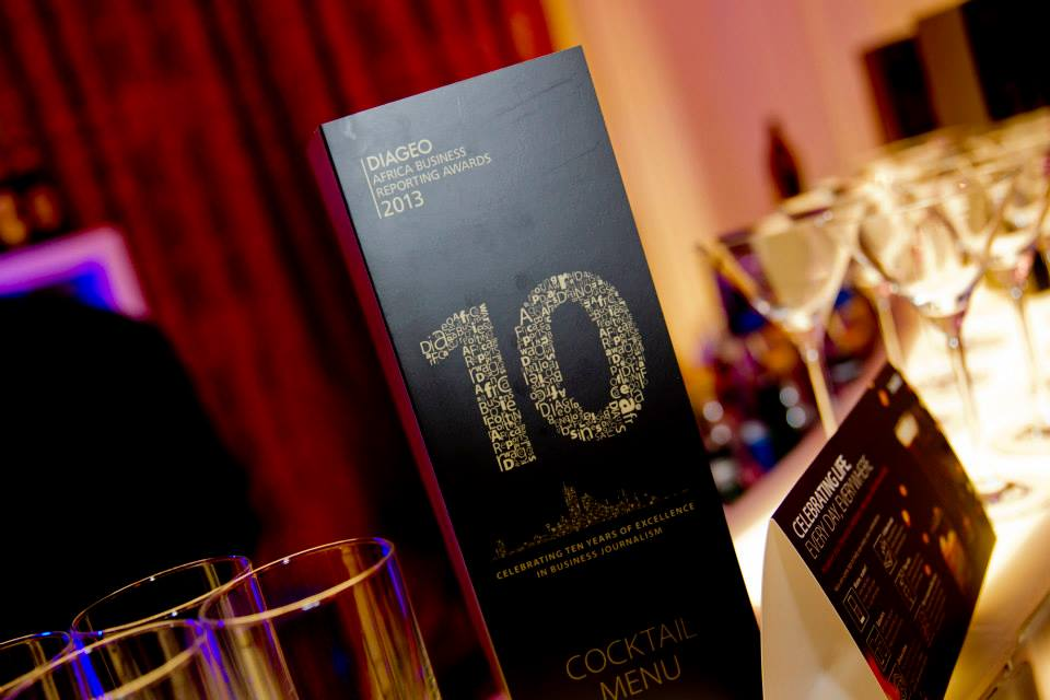 Diageo africa business reporting awards and plaques