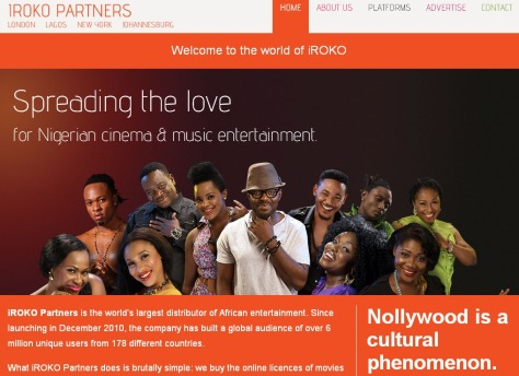 iROKO Partners is an online media distribution company focused on the Nigerian Entertainment Industry.