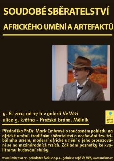 On June 5, Dr. Marie Imbrová, a Czech expert on Africa, will give a speech about African art