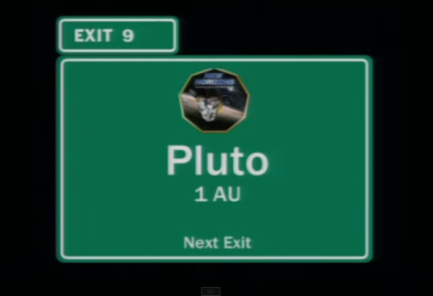 Solar System Space Highway. Next Exit: Pluto in 1 astronomical unit.