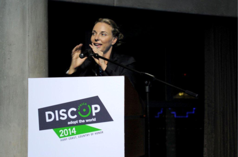 Michelle Garforth-Venter (@EcoJourno), award- winning conservation journalist, hosted the 2014 DISCOPRO pitching competition in Johannesburg (Photo: Basic Lead)