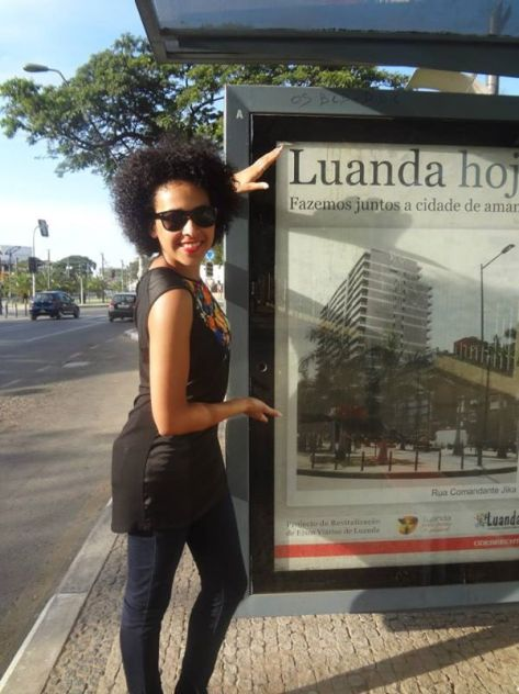 Djeissica Barbosa in Angola's capital Luanda in 2014 (Photo from Ms Barbosa's Facebook page)
