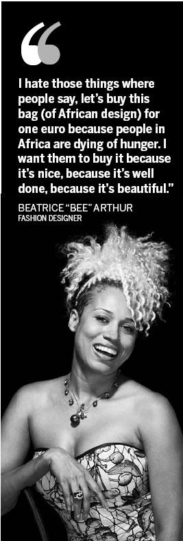 Odesa-born designer Beatrice Arthur of Ghana