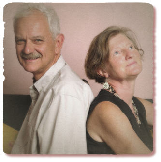 Brian Jones and Jane Morris, the two directors of amaBooks, a Bulawayo-based Zimbabwean publishing boutique