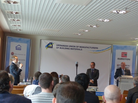 """More of Ukraine's working quarries need new technologies in processing,"" Oleksandr Pietushkov, Chief International Officer at Ukrainian Union of Building Materials' Manufacturers (left)"