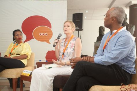 Bryony Rheam's panel at Ake Festival in Nigeria