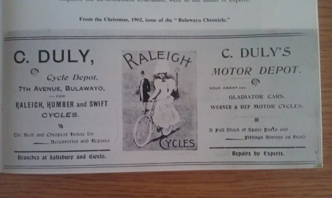 From the Christmas, 1902, issue of the Bulawayo Chronicle