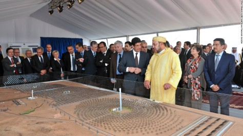 Morocco flips the switch on the world's largest solar facility. When they are finished, the four plants at Ouarzazate will occupy a space as big as Morocco's capital city, Rabat, and generate 580MW of electricity, enough to power a million homes. Source: CNN.com