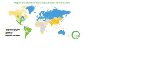 Global electricity market liberalization