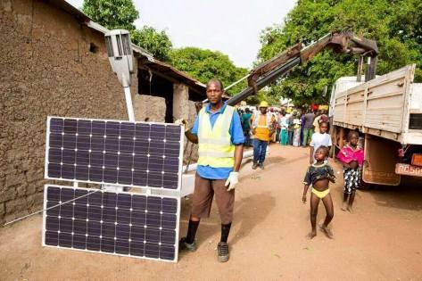 Preparing for solar panel installation in Zimbabwe. Source: Satewave Technologies P/L